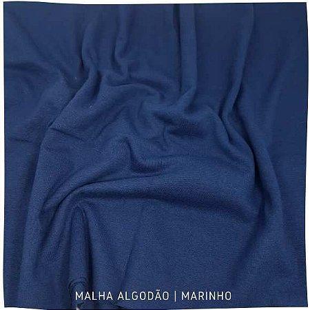 Malha Algodão Marinho 50x1,80cm (tubular)