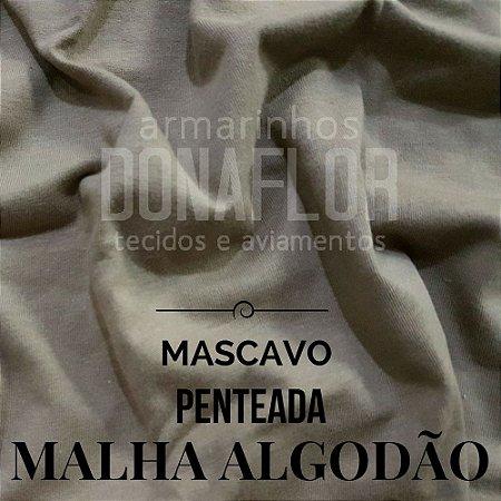 Malha Algodão Mascavo 50x1,80cm (tubular)