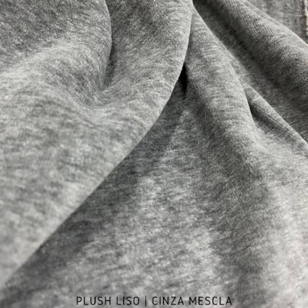 Plush Liso Cinza Mescla 50cmx1,70m