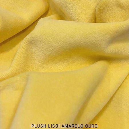 Plush Amarelo Ouro Tecido Aveludado 50CM X 1.70M