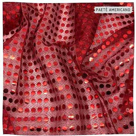 Paetê Americano Vermelho 50x1,10m