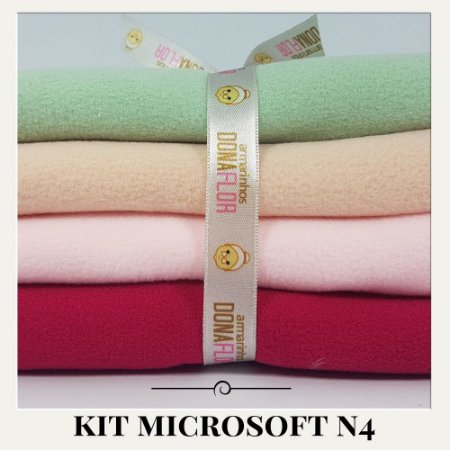 Kit Microsoft N4 4tecidos 30x80cm
