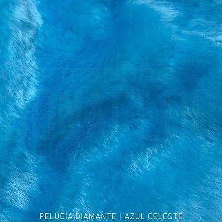 Pelúcia Diamante Azul Celeste 50cm x 1,60m