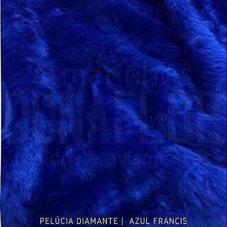 Pelúcia Diamante Azul Francis 50cm x 1,60m