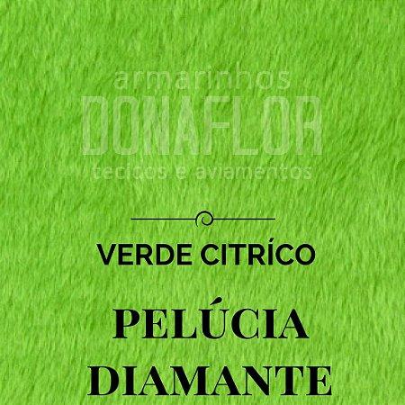 Pelúcia Diamante verde citrico 50x1,60cm
