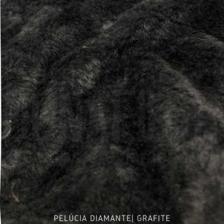 Pelúcia Diamante Grafite  50cm x 1,60m