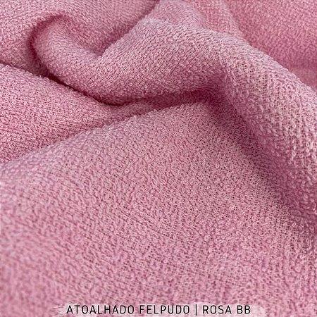 Atoalhado Felpudo Rosa BB 50cmx1,40m