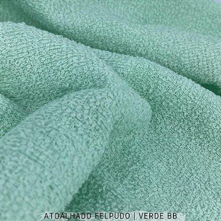 Atoalhado Felpudo Verde Bebê 50cmx1,40m