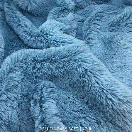 Pelúcia Baby Soft Azul bebê 50cm x 1,50m