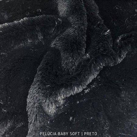 Pelúcia Baby Soft Preto 50cm x 1,50m