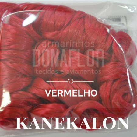 kanekalon  Vermelho  15cm 30gr