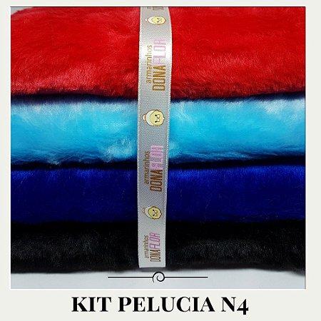 Kit Pelúcia Diamante N4  4tecidos 30x80cm