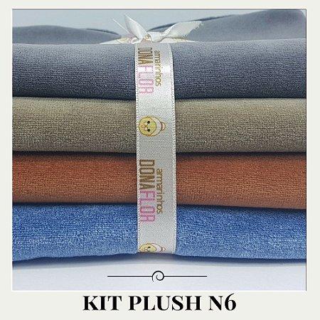Kit Plush  N6 4tecidos 30x85cm