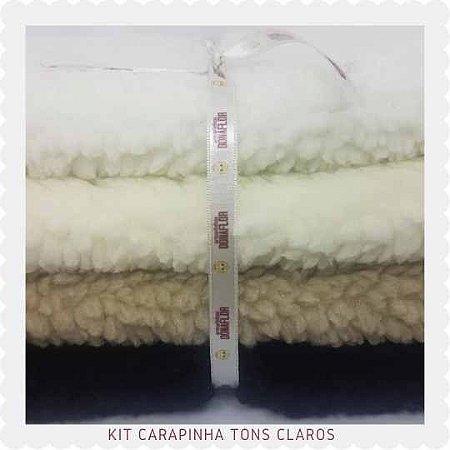 kit  Carapinha Tons claros  4Tecidos 30x70cm