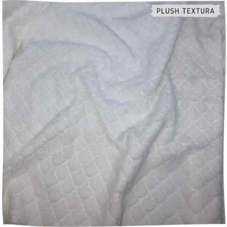 Plush Textura Escamas Off-White 50cm x 1,70m