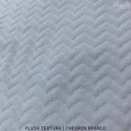 Plush Textura Chevron Branco tecido Desenhos em Relevo 50cmx1,70m