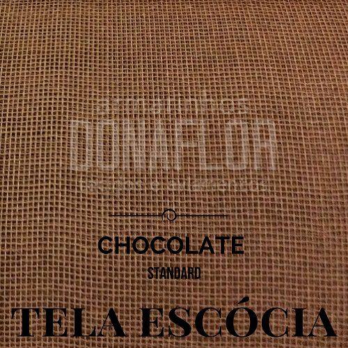 Tela Escócia  Chocolate  50X65cm