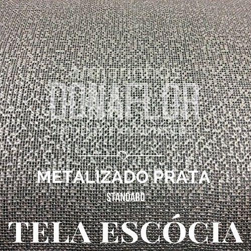 Tela Escócia metalizada prata  50X65cm