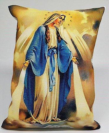Almofadinha N.Sr das Graças  vazia 13,5cmx13,5cm