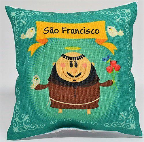 Almofadinha São Francisco  vazia 13,5cmx13,5cm