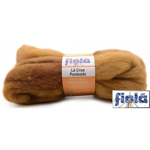 Lã crua penteada fiolã nude 50gr