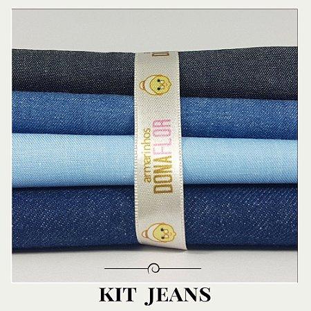 Kit Jeans  4Tecidos  30X70cm