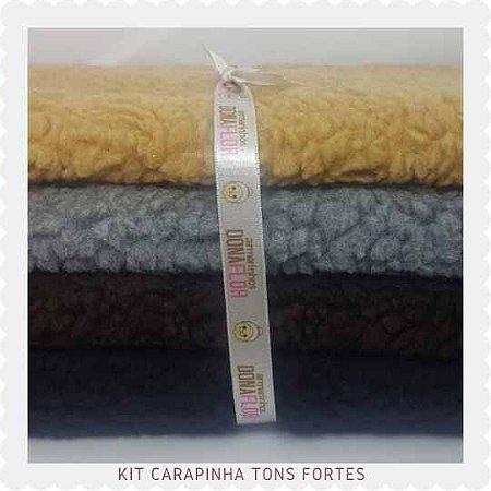 kit  Carapinha  Tons fortes  4tecidos 30x70cm