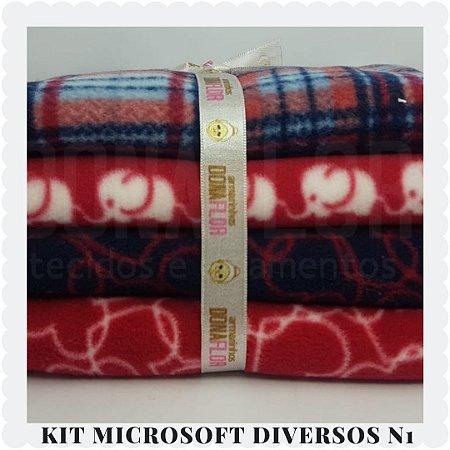 Kit Microsoft Estampado N1   4tecidos 30x80cm