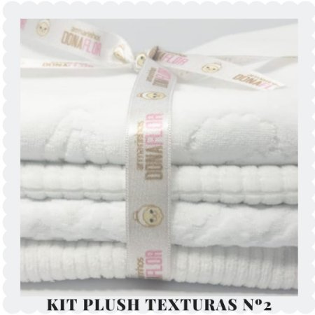 Kit Plush  textura N2 4tecidos 30x80cm