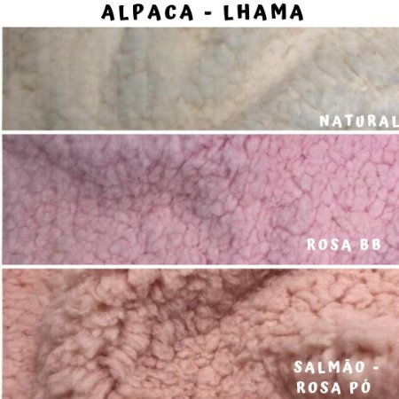 Alpaca Pelúcia Lhama  3cortes - Medida 50cmx1,50m