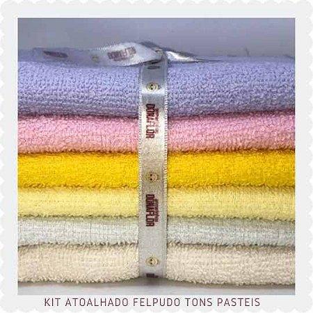 Kit Atoalhado Felpudo tons Claros 6 recortes 30cm x 1,50cm