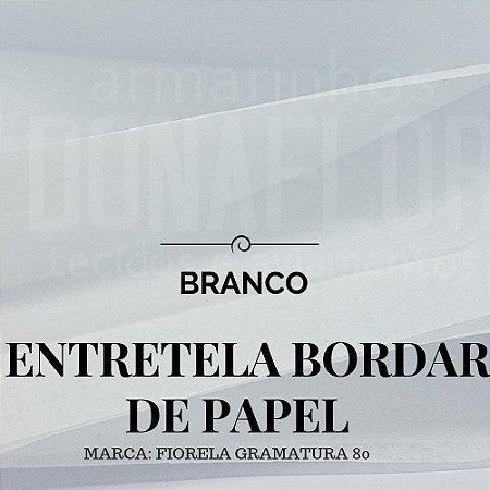 Entretela de bordar BD80 em papel rasgável 50x0,90cm