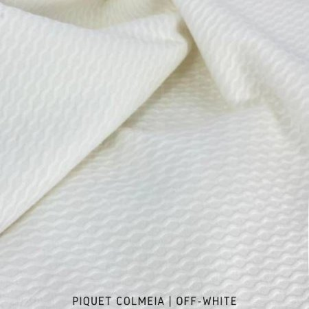 Piquet Colmeia Off-White 50cm x 1,45m