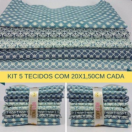 Kit 5 Tecidos Algodão Fabricart N2