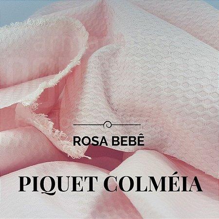 Piquet Colméia Rosa Bebê  50x1,45cm