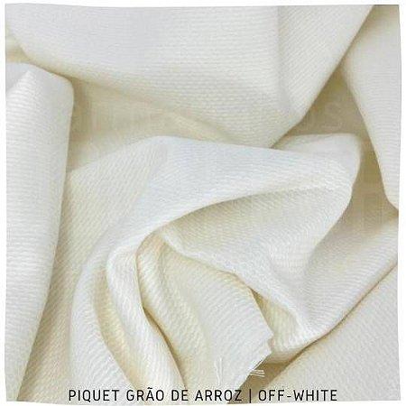 Piquet Grão de Arroz Off-White 50cmx1,45m