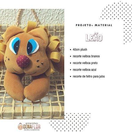 Leçao em plush Kit Projeto + Tecidos