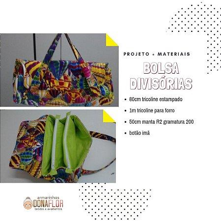Bolsa Divisórias Kit Projeto + Tecidos