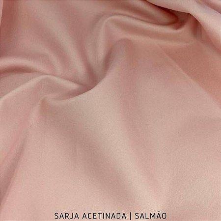 Sarja Lisa acetinado Salmão 50cmx1.40m