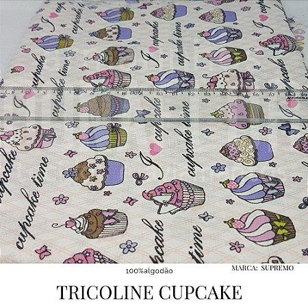 Tricoline Cupcake  50X1,40 largura