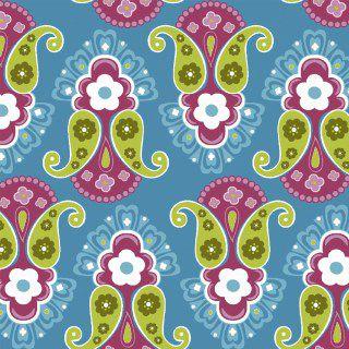 Tricoline Blue ligth por Carol Viana 50X1,40largura