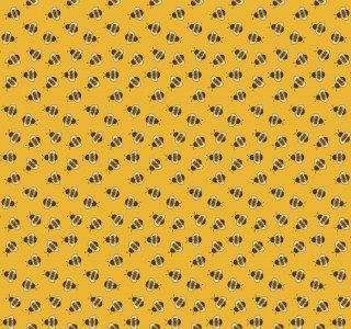 Tricoline Abelhas Mini Bee Buzz Mostarda 50X1,40largura