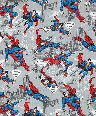 Tecido Decoração Superman 50cmX1,40largura