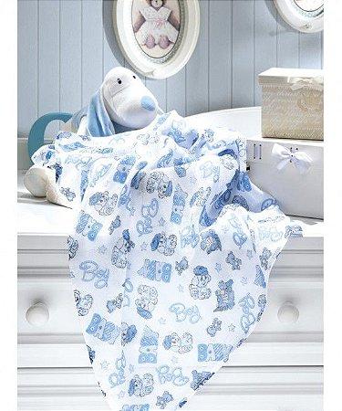 Fralda Estampada 70cm baby boy