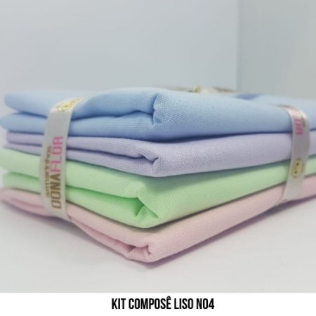 Kit Tricoline Composê liso N4| 4 Tecidos 50x70cm
