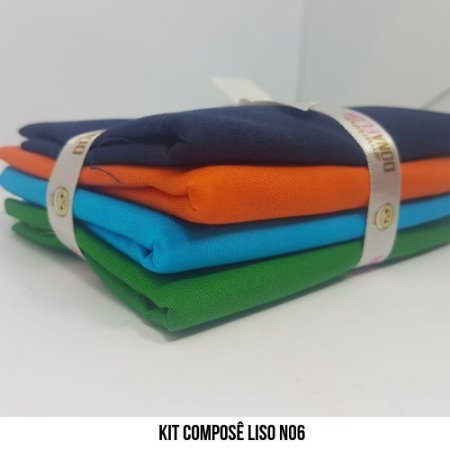 Kit Tricoline Composê liso N6| 4 Tecidos 50x70cm