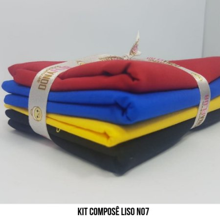 Kit Tricoline Composê liso N7| 4 Tecidos 50x70cm