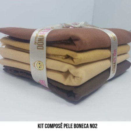Kit Tricoline Pele Boneca N2| 4 Tecidos 50x70cm