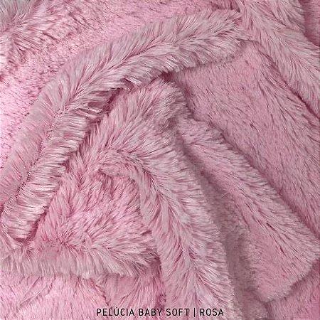 Pelúcia Baby Soft Rosa 50cm x 1,50m