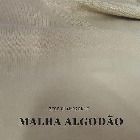 Malha Algodão Bege Champagne 50x1,80cm (tubular)